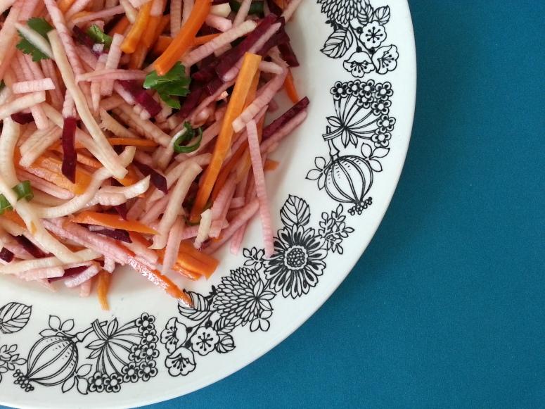 apple beet carrot radish slaw 2